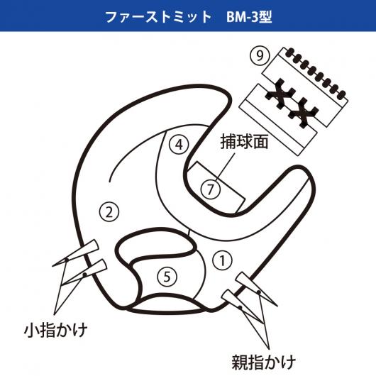 ベースマンオーダーグラブファーストミットカラー指定