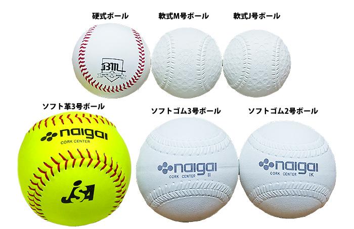 野球のボールとソフトボールの大きさ比較