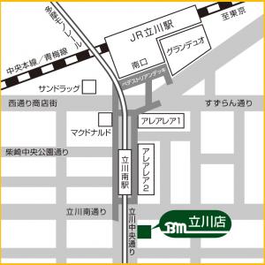 ベースマン立川店マップ