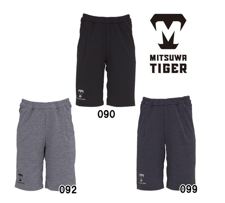 美津和タイガー 野球 スウェットパンツ ハーフパンツ 薄手 ショーパン トレーニング PTREYS-005