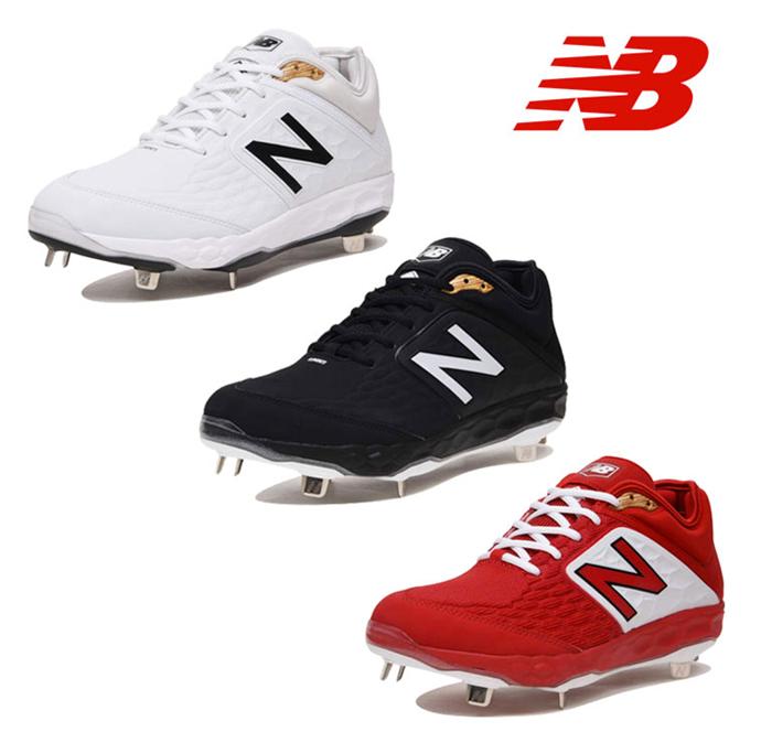 18-19シーズン新カラー NewBalance ニューバランス 野球 スパイク 埋め込み 金具 L3000v4