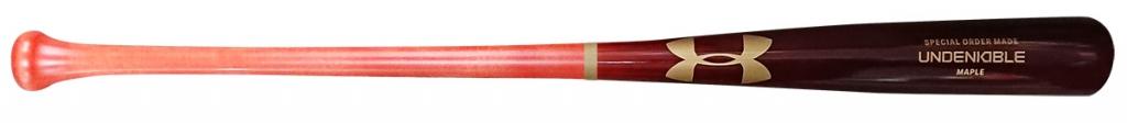 アンダーアーマー軟式木製バット、吉田型