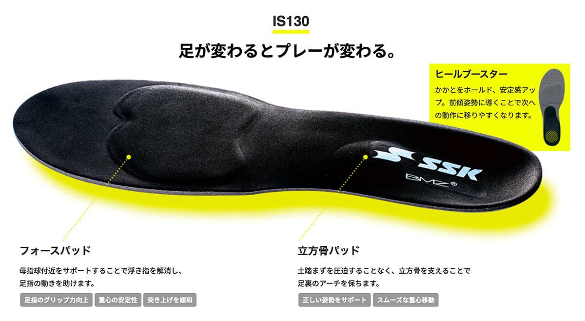 足が変わるとプレーが変わる。スタンダードモデル IS130