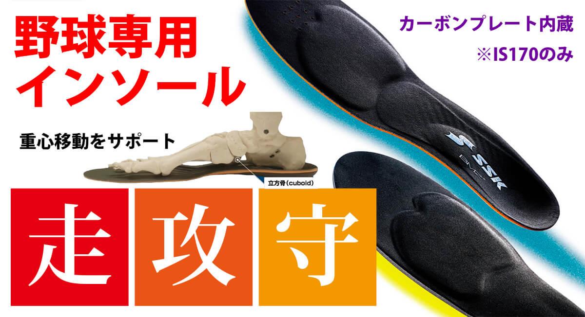 野球専用インソール(中敷き)SSK-BMZカーボンプレート入