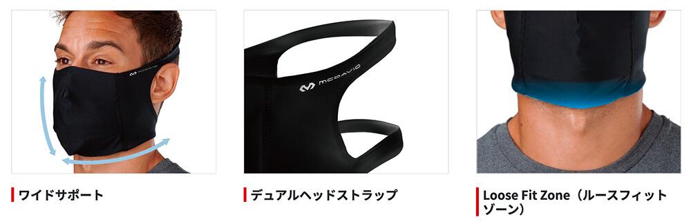 マクダビッドスポーツマスクの装着感